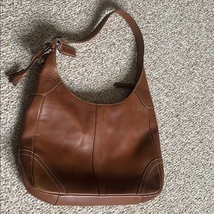 Brown leather Coach bag!